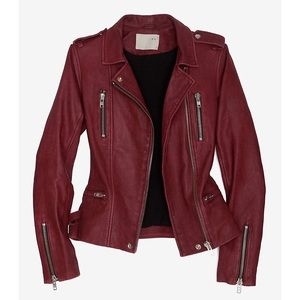IRO Barby red leather jacket motorcycle 1